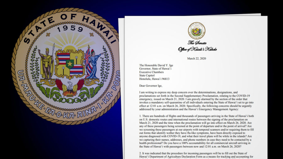 Kahele, Gabbard Expresses Concern Over Governor's Proclamation