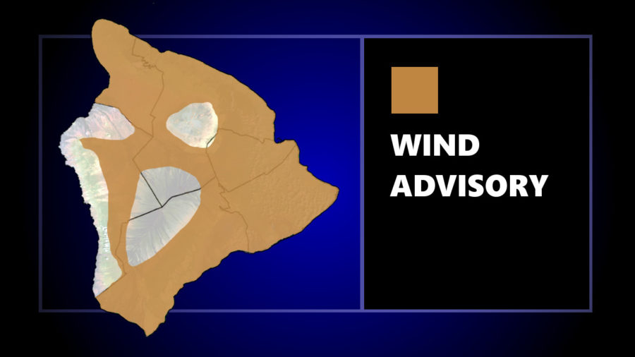 Wind Advisory In Effect For Most Of Hawaiʻi Island
