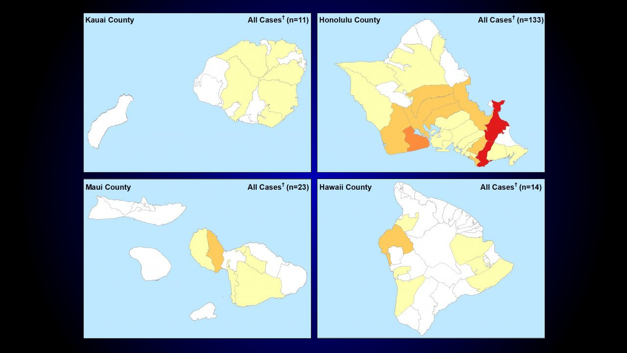 New Island Maps Plot Location Of Covid 19 Cases In Hawaii