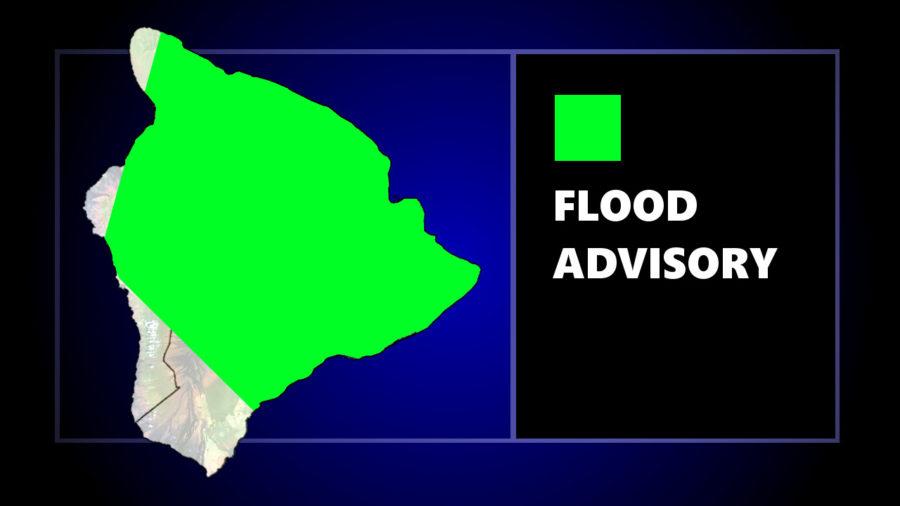 Flood Advisory Issued For Hawaii Island Tuesday
