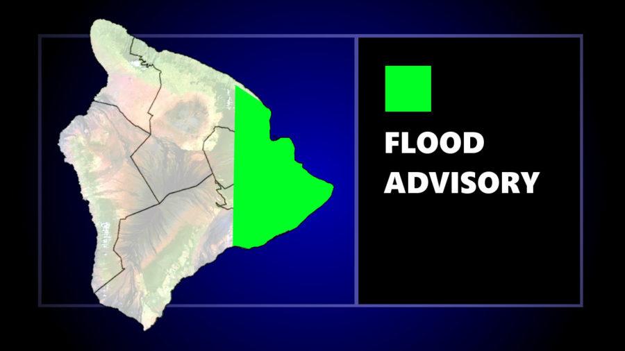 Flood Advisory Issued For Hilo, Puna