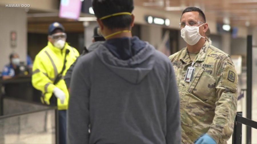 VIDEO: Hawaii National Guard Now Screening Airport Passengers