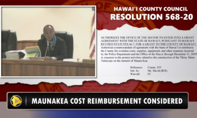 VIDEO: Council Postpones Mauna Kea Cost Reimbursement Vote