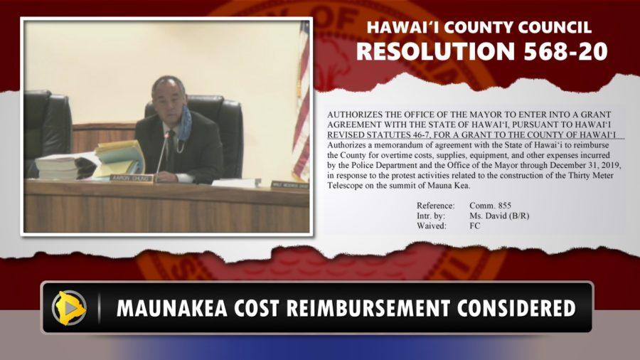 VIDEO: Council Postpones Mauna Kea Cost Reimbursement Vote