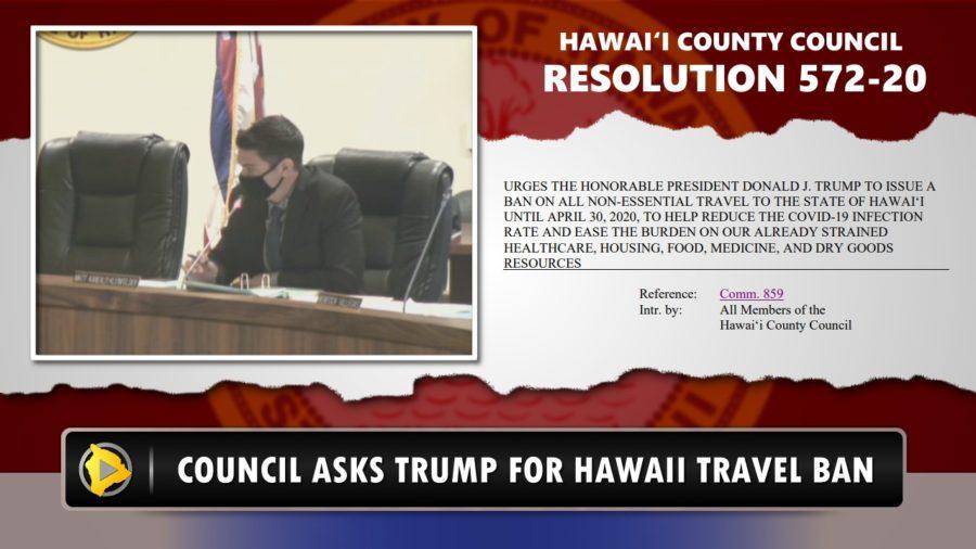 VIDEO: Council Asks Trump For Hawaii Travel Ban