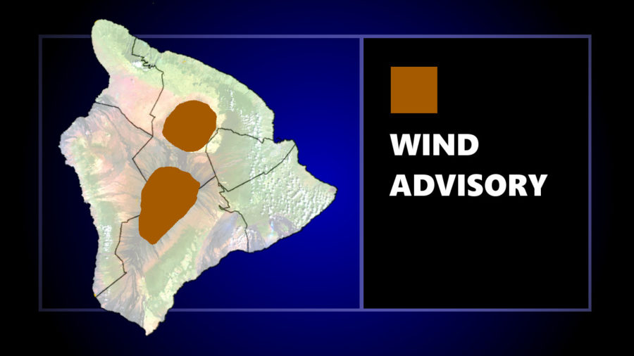 Wind Advisory For Hawaii Summits