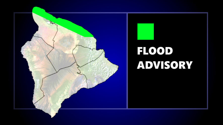 Flood Advisory Issued For Area Of North Hawaii