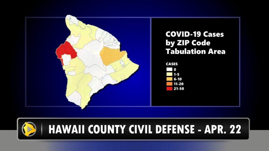 Hawaii County Civil Defense Reports No New COVID-19 Cases