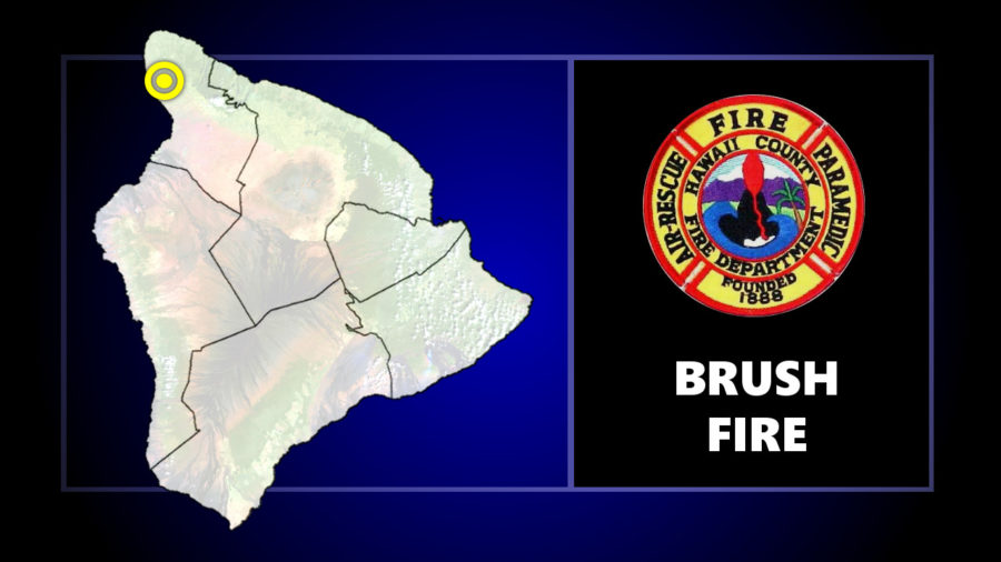 North Kohala Brush Fire Update