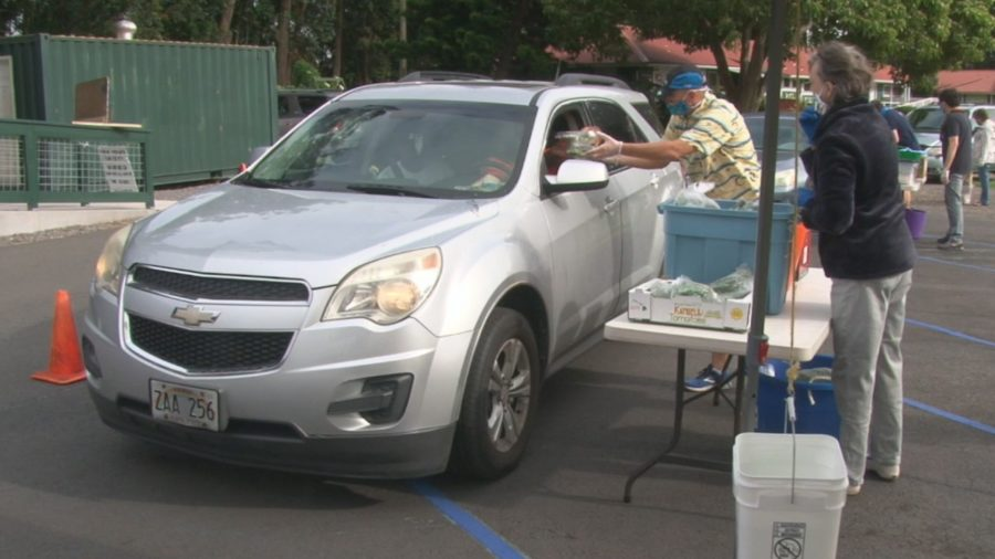 VIDEO: Waimea Community Meal Continues As Drive-Through