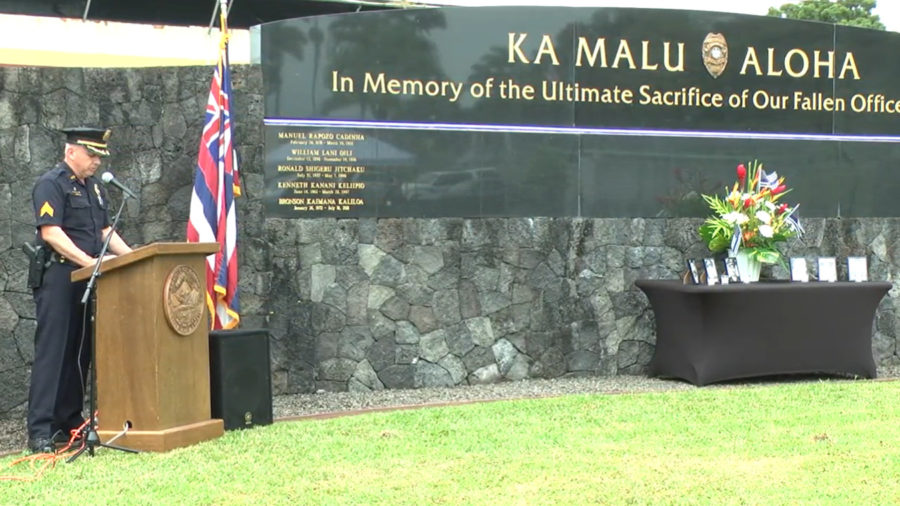 VIDEO: Private Police Week Ceremony Held In Hilo