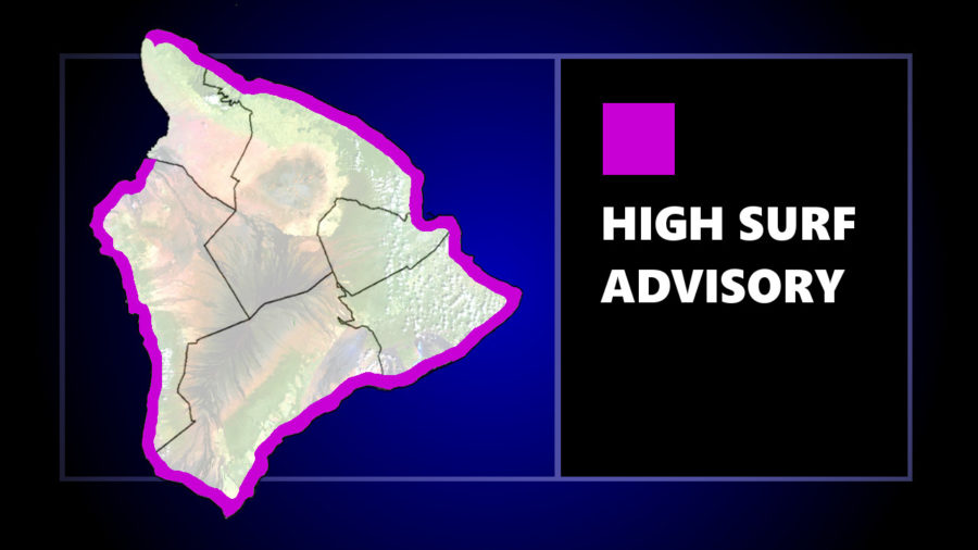 High Surf Advisory Issued For Most Hawaii Island Shores