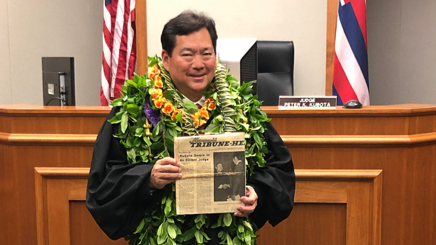 Peter Kubota Sworn In As New Circuit Court Judge For Hawaii Island