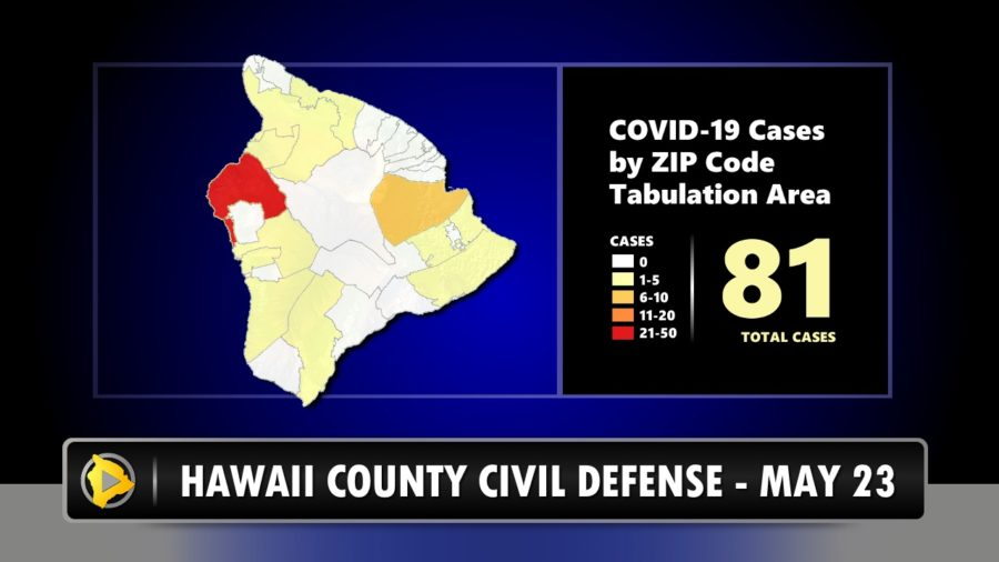 Hawaii County: No New COVID-19 Cases Saturday, May 23