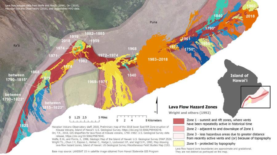 New Maps Illustrate Kilauea, Mauna Loa Geologic History