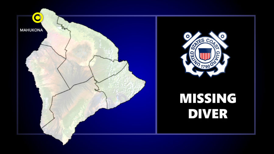 Search For Missing Diver Off Mahukona
