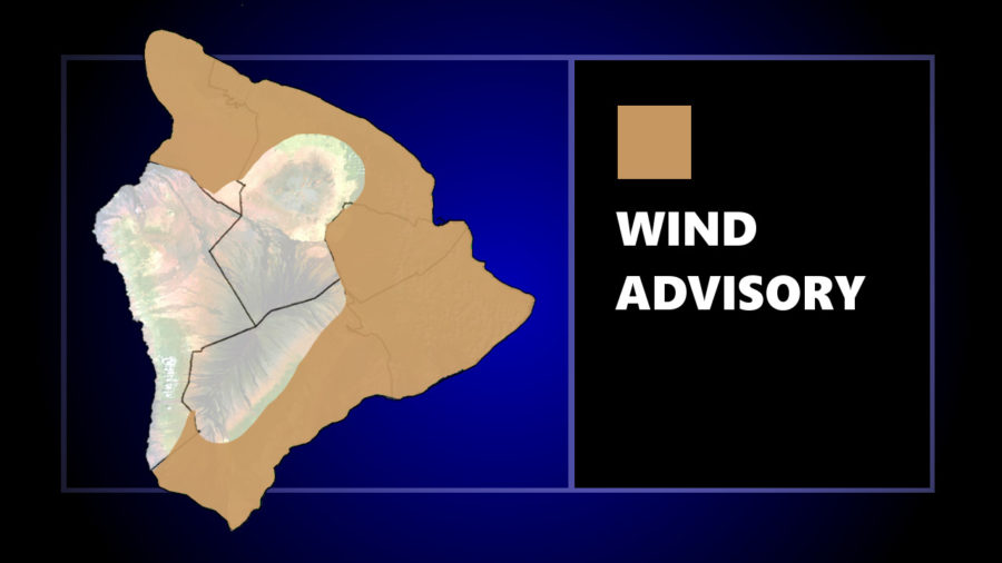 Wind Advisory In Effect For Areas Of Hawaii Island