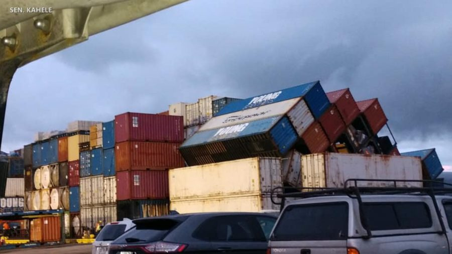 Shipping Containers Fall Overboard Near Hilo Harbor