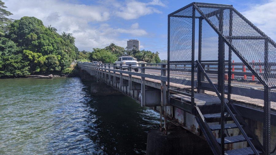 Hilo Singing Bridge Closed Overnight Due To Fire At Homeless Encampment