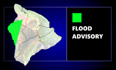 Kona Under Flood Advisory Sunday Afternoon