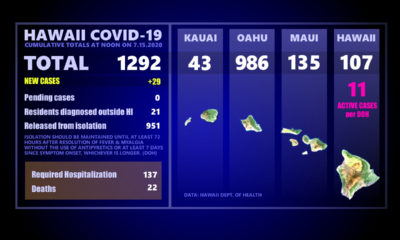 Hawaiʻi COVID-19 Updates For Wednesday, July 15th: Two New Big Island Cases