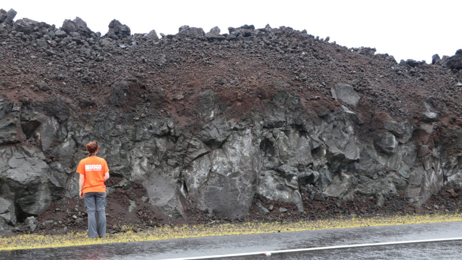 Geologists Continue Study Of Vast Fissure 8 Lava Flow