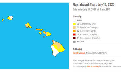 East Hawaii Is Abnormally Dry, Drought Monitor Shows