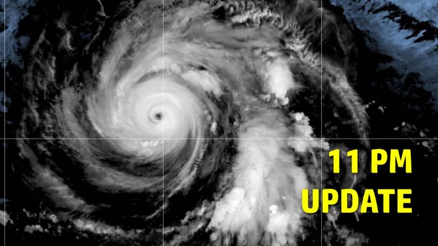 Category 4 Hurricane Douglas Entering Central Pacific – 11 p.m. Update