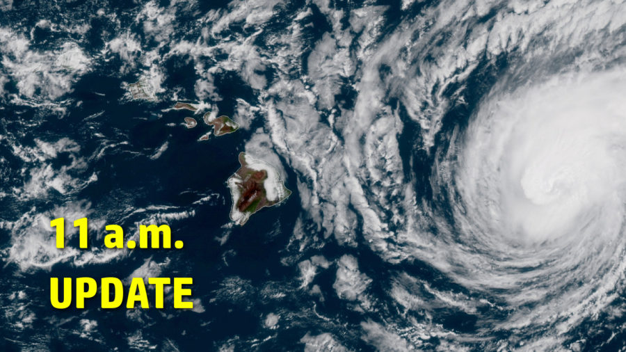 VIDEO: Hurricane Warning Issued For Oʻahu – 11 a.m. Update