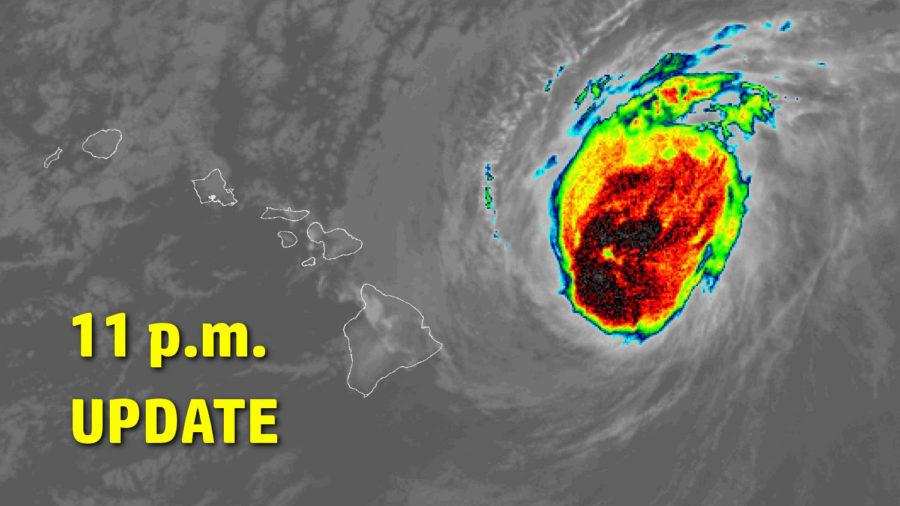 Hurricane Douglas Maintains Strength As It Nears Hawaii – 11 p.m. Update