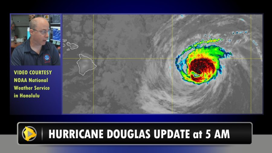 VIDEO: Hurricane Douglas Continues Path Towards Hawaii – 5 a.m. Update