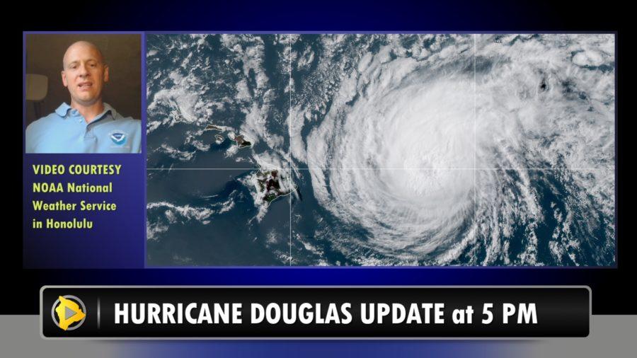 VIDEO: Hurricane Douglas Hawaiʻi Update – 5 p.m.
