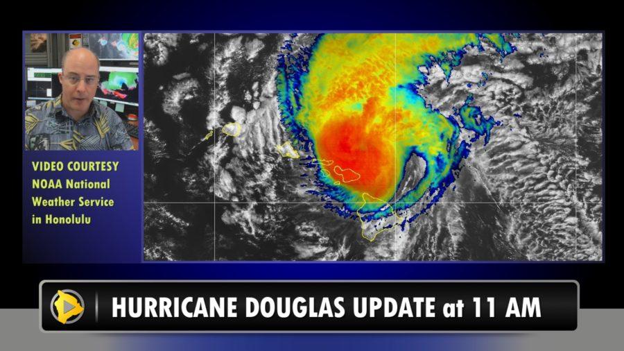 VIDEO: Hurricane Douglas Update – 11 a.m. Sunday
