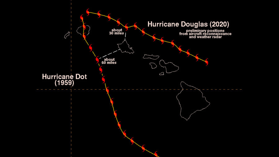 Hawaiʻi Island Recorded Highest Wind From Hurricane Douglas