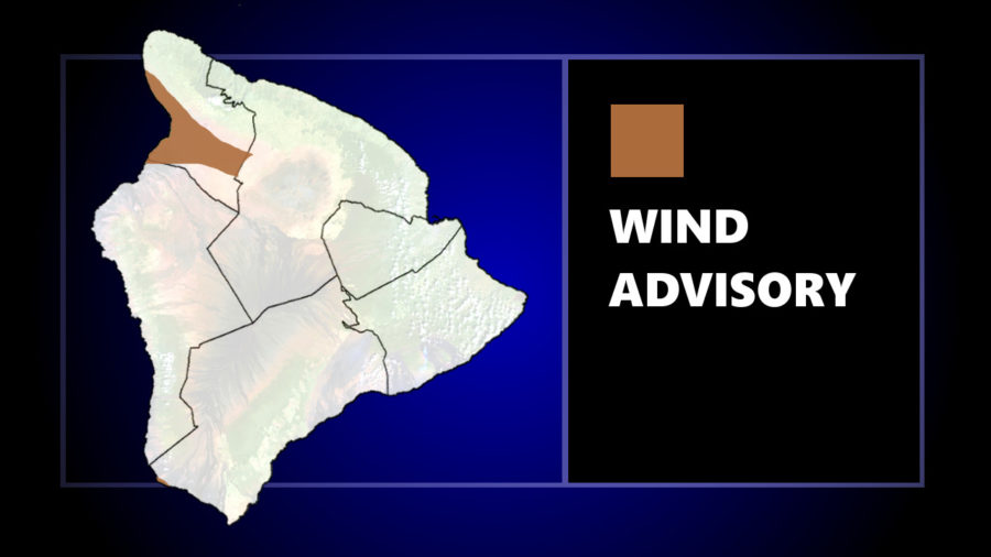 Kohala Under Wind Advisory, 45 mph Gusts Possible