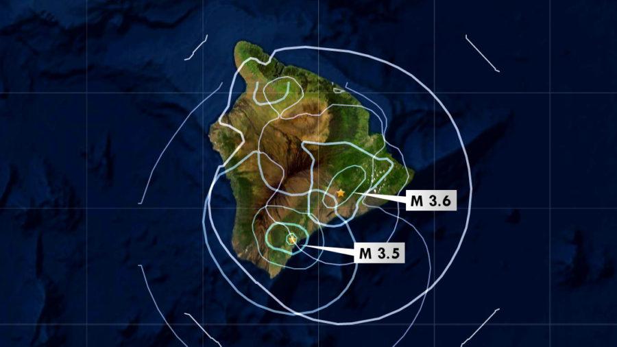 Magnitude 3.5, 3.6 Earthquakes Rumble Under Hawaiʻi Sunday Morning