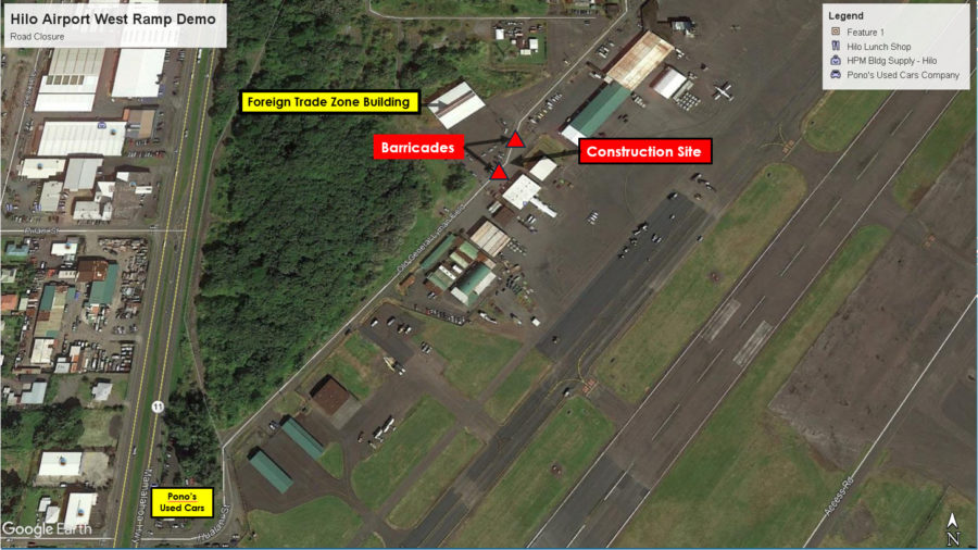 Road Closure Slated For Hilo Airport Ramp Demolition