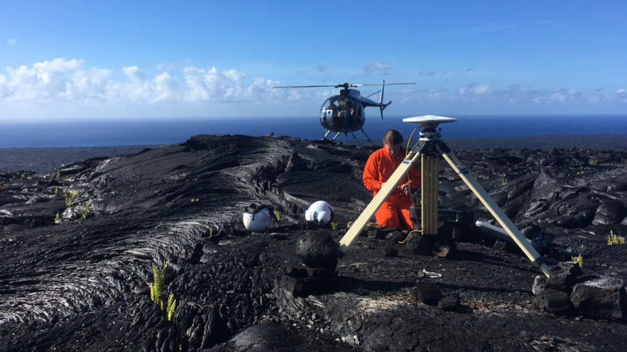 VOLCANO WATCH: Measuring The Shape Of Hawaiian Volcanoes