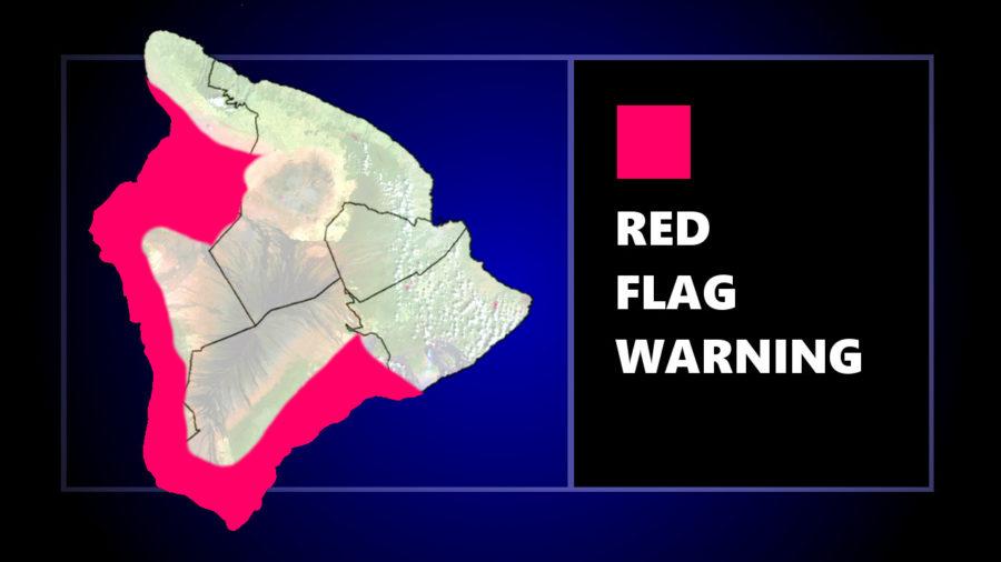 Red Flag Warning Issued For Leeward Areas Of Hawaiʻi Island