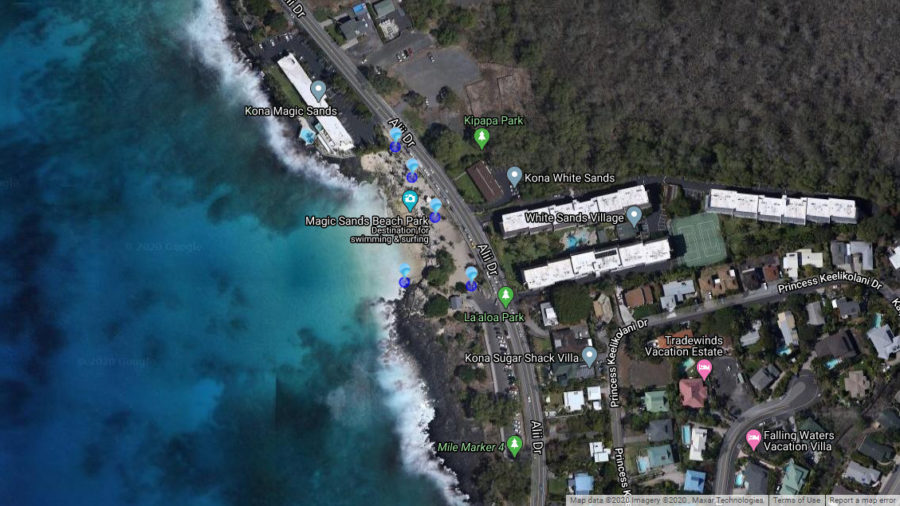High Bacteria Advisory For Magic Sands Beach In Kona