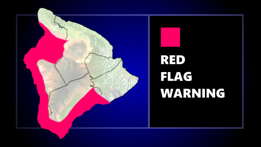 Red Flag Warning For Hawaiʻi In Effect Until Sunday Evening