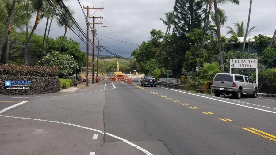 Traffic Change On Aliʻi Drive In Kona Starts Today