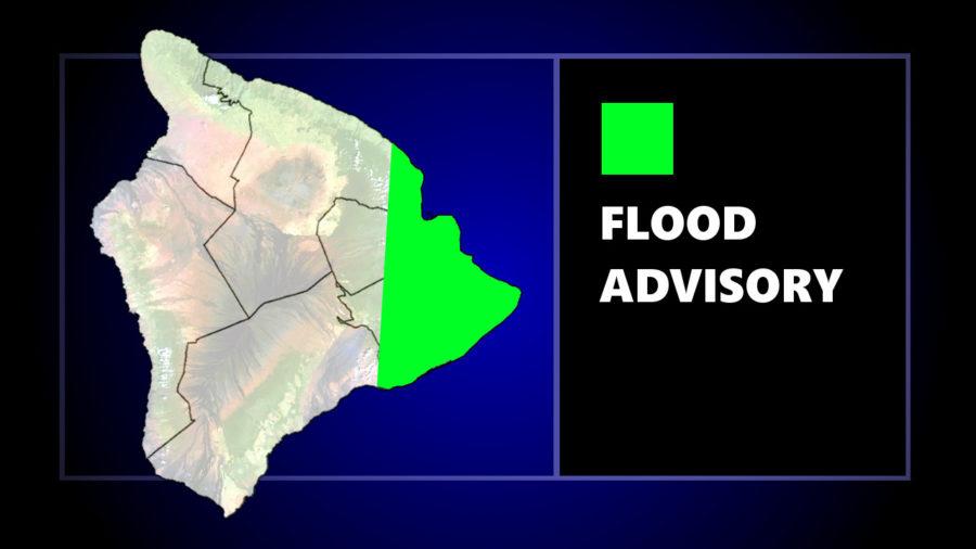 Flood Advisory Issued For East Hawaii