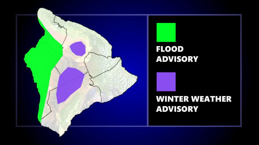 Hawaiʻi Under Flood, Winter Weather Advisory