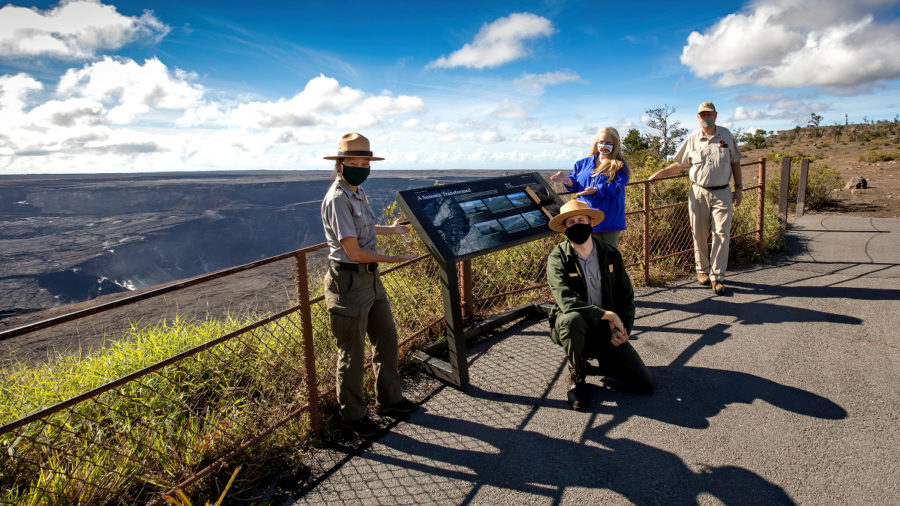 Hawaiʻi Volcanoes National Park Unveils New Signs Around Kīlauea
