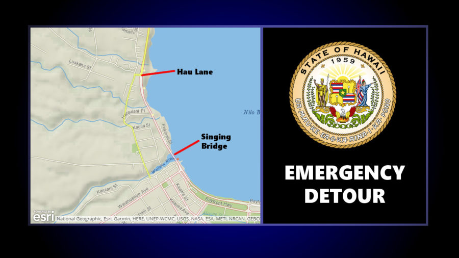 "Detour In Effect As Hilo ""Singing Bridge"" Undergoes Emergency Repairs"