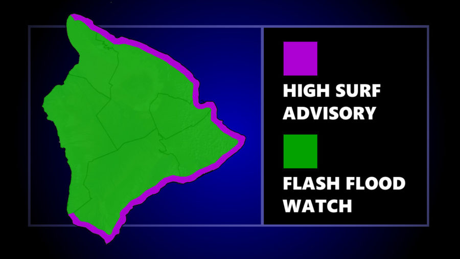 Hawaiʻi Island Under Flash Flood Watch