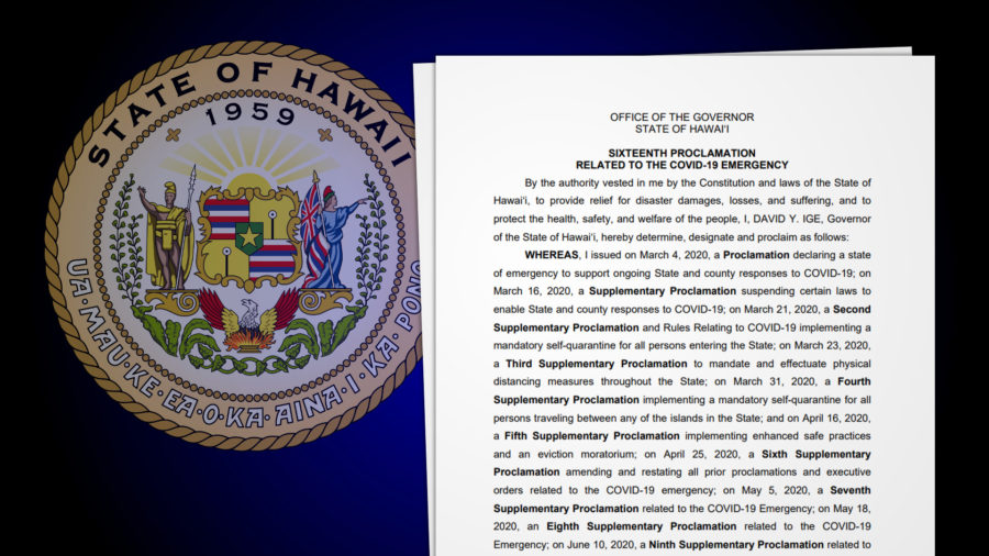Governor Signs Proclamation Tightening Restrictions For Travelers To Hawai'i
