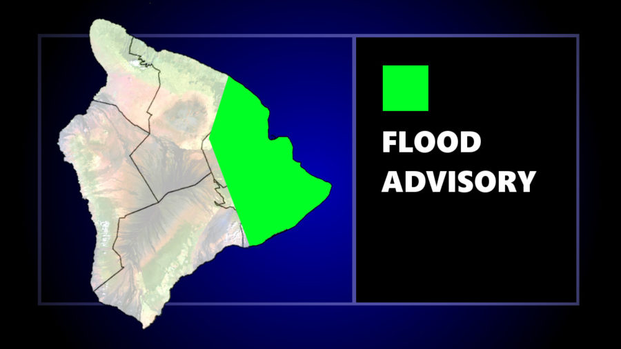 Flood Advisory For East Hawaiʻi Wednesday Evening