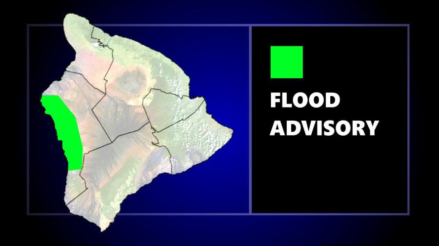 Flood Advisory Issued For Kona Area